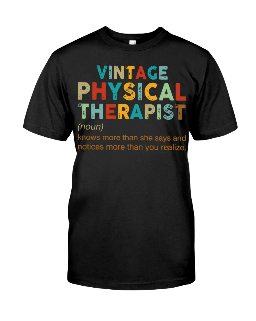 Vintage Physical Therapist define shirt Classic T-Shirt