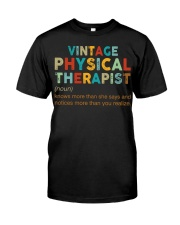 Vintage Physical Therapist define shirt Classic T-Shirt front