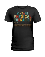 Vintage Physical Therapist define shirt Ladies T-Shirt thumbnail