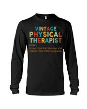 Vintage Physical Therapist define shirt Long Sleeve Tee thumbnail