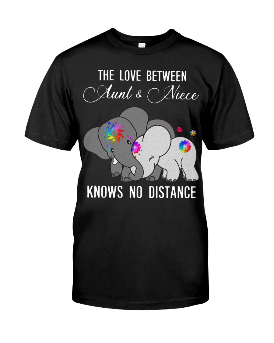 Elephants The love between Aunt and Niece shirt Classic T-Shirt