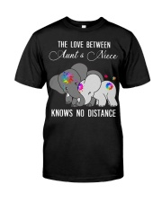 Elephants The love between Aunt and Niece shirt Classic T-Shirt front