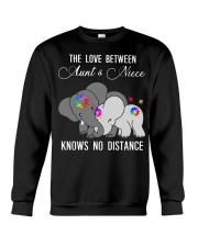 Elephants The love between Aunt and Niece shirt Crewneck Sweatshirt thumbnail
