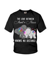 Elephants The love between Aunt and Niece shirt Youth T-Shirt thumbnail