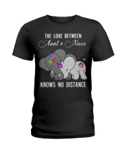 Elephants The love between Aunt and Niece shirt Ladies T-Shirt thumbnail