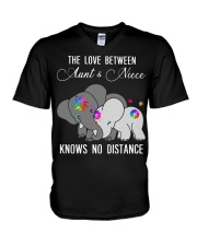 Elephants The love between Aunt and Niece shirt V-Neck T-Shirt thumbnail