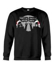 Party On Wayne Party On Darth Christmas shirt Crewneck Sweatshirt thumbnail