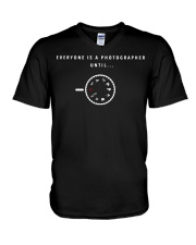 Everyone is a Photographer Until Manual Mode  V-Neck T-Shirt thumbnail
