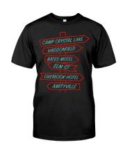 Camp Crystal Lake Haddonfield Bates Motel Elm Classic T-Shirt front