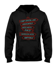 Camp Crystal Lake Haddonfield Bates Motel Elm Hooded Sweatshirt thumbnail