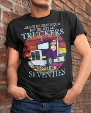All men are created equal but the best truckers  Classic T-Shirt apparel-classic-tshirt-lifestyle-26