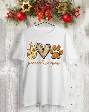 Peace love Paw shirt Classic T-Shirt lifestyle-holiday-crewneck-front-2