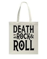 Death by rock and roll shirt Tote Bag thumbnail
