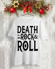 Death by rock and roll shirt Classic T-Shirt lifestyle-holiday-crewneck-front-2