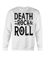 Death by rock and roll shirt Crewneck Sweatshirt tile