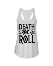 Death by rock and roll shirt Ladies Flowy Tank thumbnail