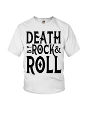 Death by rock and roll shirt Youth T-Shirt thumbnail