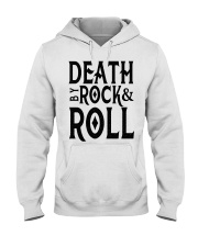 Death by rock and roll shirt Hooded Sweatshirt thumbnail