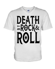 Death by rock and roll shirt V-Neck T-Shirt thumbnail
