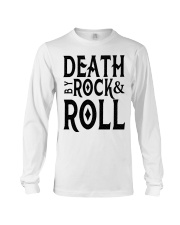 Death by rock and roll shirt Long Sleeve Tee thumbnail