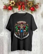 Skeleton Santa Claus biker Merry Christmas shirt Classic T-Shirt lifestyle-holiday-crewneck-front-2