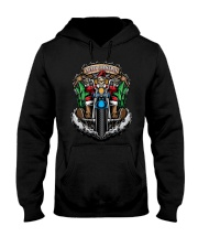 Skeleton Santa Claus biker Merry Christmas shirt Hooded Sweatshirt thumbnail