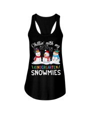 Chillin' with my Kindergarten snowmies shirt Ladies Flowy Tank thumbnail