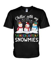Chillin' with my Kindergarten snowmies shirt V-Neck T-Shirt thumbnail