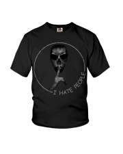 Skull silent I hate People shirt Youth T-Shirt thumbnail