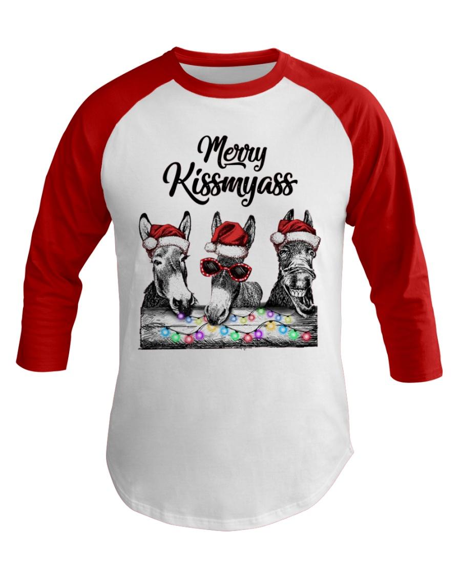 Donkeys Merry Kissmyass shirt Baseball Tee