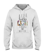Life is an art Hooded Sweatshirt front