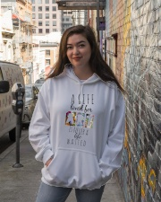 Life is an art Hooded Sweatshirt lifestyle-unisex-hoodie-front-1