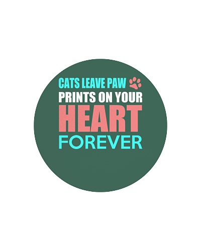 Cat Lover - Cats Leave Paw Prints Your Heart