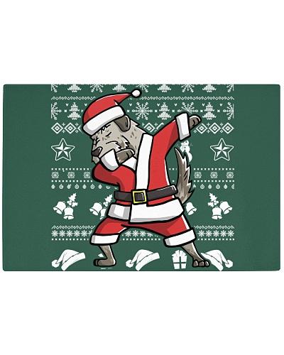Irish Wolfhound Dog Dabbing Christmas