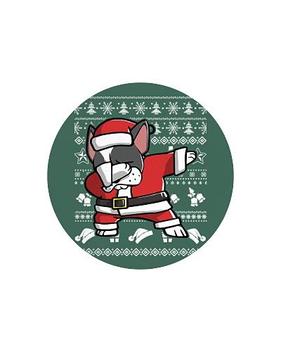 Boston Terrier Dog Dabbing Christmas
