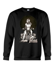 motorcycle girl Crewneck Sweatshirt thumbnail