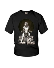 motorcycle girl Youth T-Shirt thumbnail