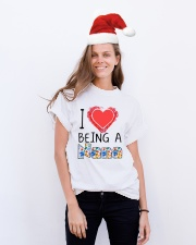 I Love Being A Nana Classic T-Shirt lifestyle-holiday-crewneck-front-1