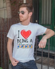 I Love Being A Nana Classic T-Shirt lifestyle-mens-crewneck-front-2