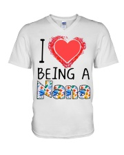 I Love Being A Nana V-Neck T-Shirt thumbnail