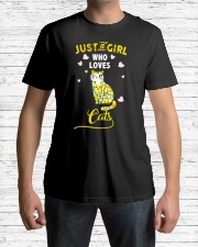 Just A Girl Who Loves Cats Mixed Sunflower Classic T-Shirt lifestyle-mens-crewneck-front-1