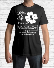 Kiss Me I'm A Paintballer Or Irish Or Drunk Classic T-Shirt lifestyle-mens-crewneck-front-1