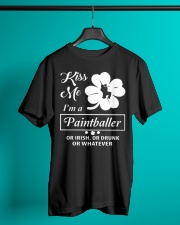 Kiss Me I'm A Paintballer Or Irish Or Drunk Classic T-Shirt lifestyle-mens-crewneck-front-3