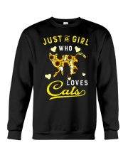 Just A Girl Who Loves Cats Mixed Sunflower Crewneck Sweatshirt thumbnail