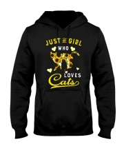 Just A Girl Who Loves Cats Mixed Sunflower Hooded Sweatshirt thumbnail