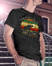 Here Comes The Sun And I Say It's Alright Classic T-Shirt lifestyle-mens-crewneck-front-5