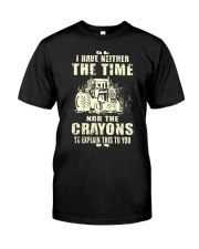 I Have Neither The Time Nor The Crayons Tractor Premium Fit Mens Tee thumbnail