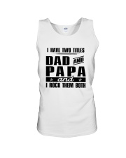 Two Tittles Dad and Papa Unisex Tank thumbnail