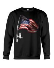 Fishing American Flag Fisherman  Crewneck Sweatshirt thumbnail