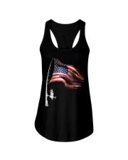Fishing American Flag Fisherman  Ladies Flowy Tank thumbnail